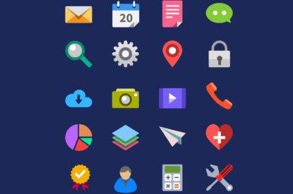 Flat Free Icons 415×275